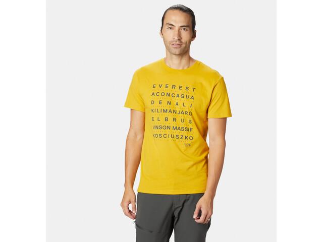 Mountain Hardwear Seven Summits T-shirt Homme, honey amber